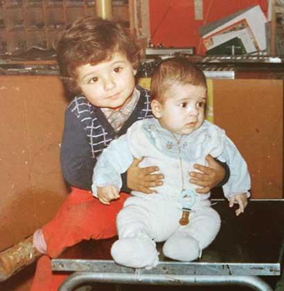 Con mio fratello Max in tipografia