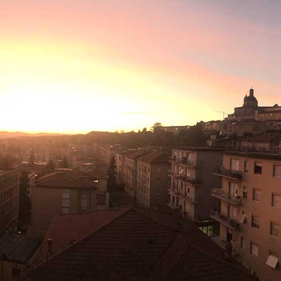 Il tramonto dal nostro ufficio
